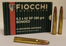 FIOCCHI 9.3x62 SOFT POINT BOND 286