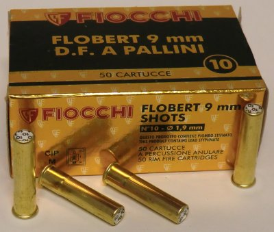 FIOCCHI Flobert 9mm, 7,5g, 1,9 mm hagel