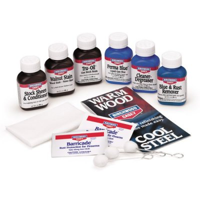 Birchwood Casey DeLuxe Perma Blue Liquid Gun Blue & Tru Oil Gun Stock Finish Kit